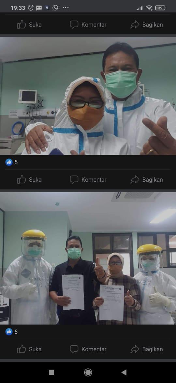 SEHAT KEMBALI WALIKOTA MADIUN (Bp. Drs. H. MAIDI, SH, MM, M.Pd) BESERTA ISTRI (Ibu Dra. YUNI SETYOWATI, S.Pd)